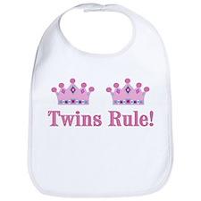 Twins Rule! (Girls) Bib