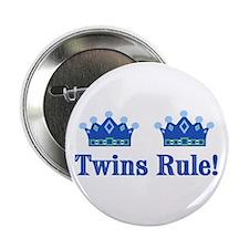 Twins Rule! (Boys) Button