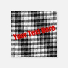 "Custom Houndstooth Square Sticker 3"" x 3"""