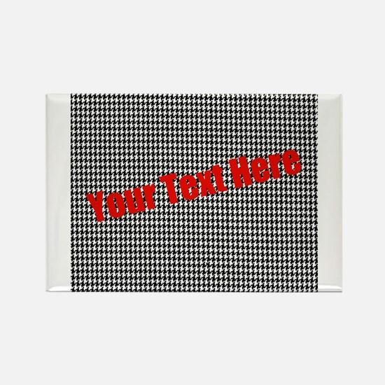 Custom Houndstooth Rectangle Magnet