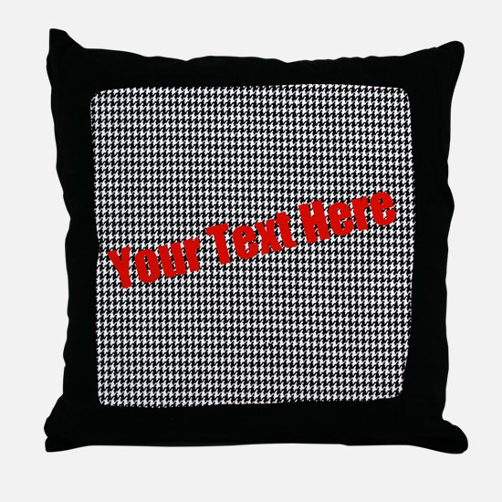 Custom Houndstooth Throw Pillow
