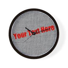Custom Houndstooth Wall Clock