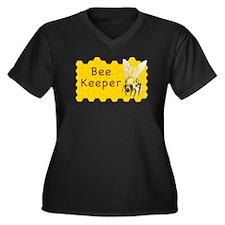 Bee Keeper ~ Women's Plus Size V-Neck Dark T-Shirt