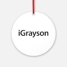 iGrayson Round Ornament