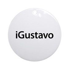 iGustavo Round Ornament