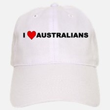 I Love Australians Baseball Baseball Cap