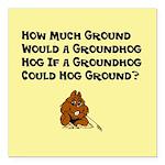 "Celebrate Groundhog Day Square Car Magnet 3"""