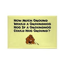 Celebrate Groundhog Day Rectangle Magnet