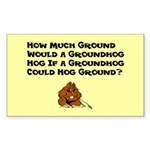 Celebrate Groundhog Day Sticker (Rectangle)