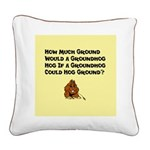 Celebrate Groundhog Day Square Canvas Pillow