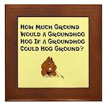 Celebrate Groundhog Day Framed Tile
