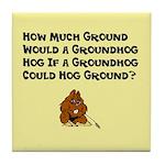 Celebrate Groundhog Day Tile Coaster