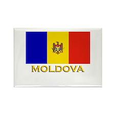 Moldova Flag Stuff Rectangle Magnet