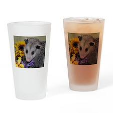 Posing Opossum Drinking Glass