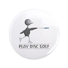 "Play Disc Golf 3.5"" Button"