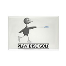 Play Disc Golf Rectangle Magnet
