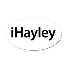 iHayley Oval Car Magnet