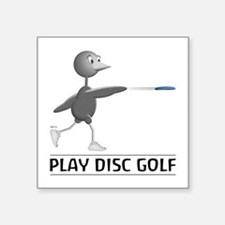 "Play Disc Golf Square Sticker 3"" x 3"""