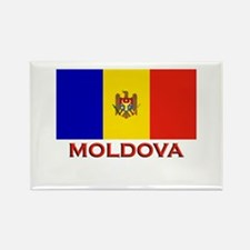 Moldova Flag Merchandise Rectangle Magnet