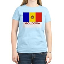 Moldova Flag Merchandise Women's Pink T-Shirt