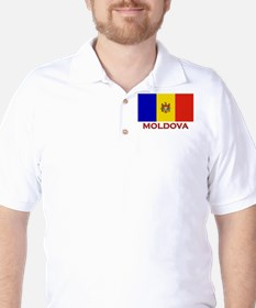 Moldova Flag Merchandise Golf Shirt