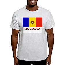 Moldova Flag Merchandise Ash Grey T-Shirt