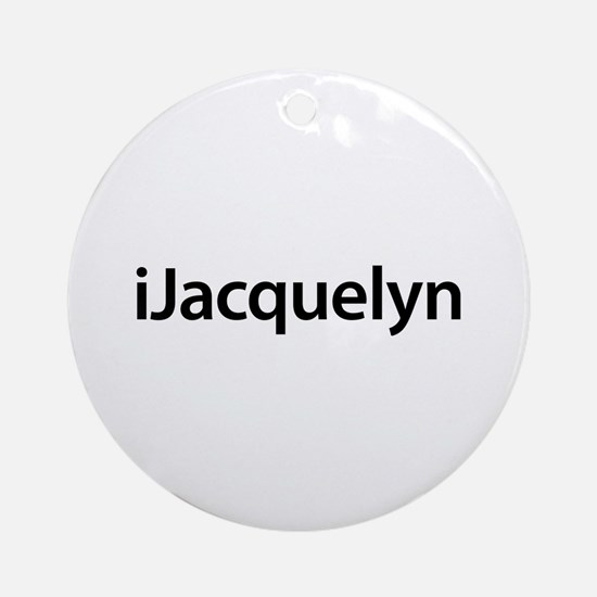 iJacquelyn Round Ornament