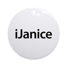 iJanice Round Ornament