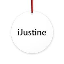 iJustine Round Ornament