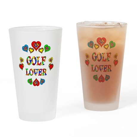 Golf Lover Drinking Glass