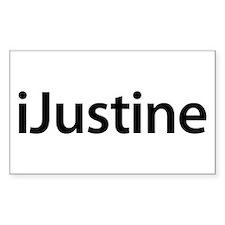 iJustine Rectangle Decal