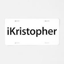 iKristopher Aluminum License Plate
