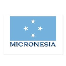 Micronesia Flag Gear Postcards (Package of 8)