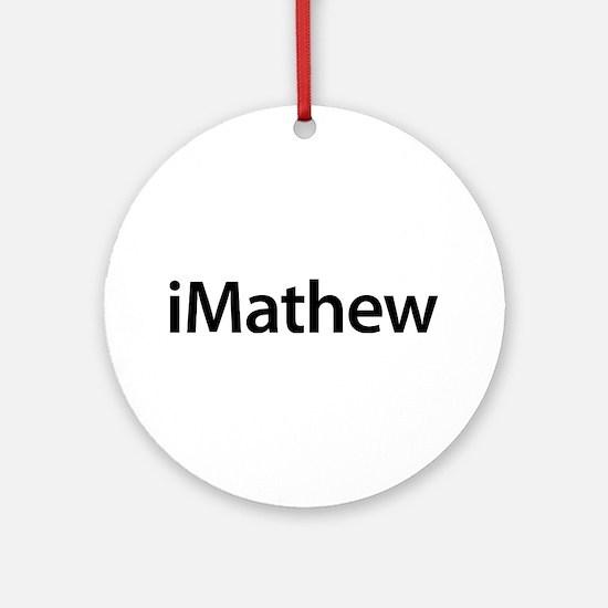iMathew Round Ornament