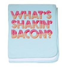 What's Shakin' Bacon baby blanket