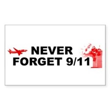 Never Forget 911 Rectangle Decal
