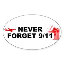 Never Forget 911 Oval Decal