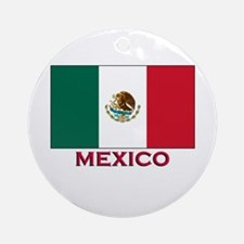 Mexico Flag Stuff Ornament (Round)