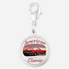 ford mustang Silver Round Charm