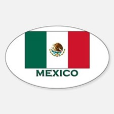Mexico Flag Merchandise Oval Decal