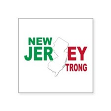 "New jersey italian Square Sticker 3"" x 3"""