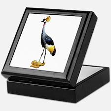 Crowned Crane Wearing Shoes Keepsake Box