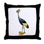 Crowned Crane Wearing Shoes Throw Pillow