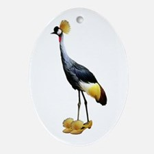 Crowned Crane Wearing Shoes Ornament (Oval)