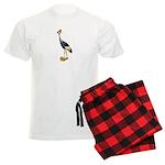 Crowned Crane Wearing Shoes Men's Light Pajamas