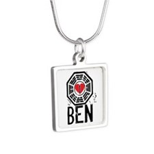 I Heart Ben - LOST Silver Square Necklace