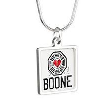 I Heart Boone - LOST Silver Square Necklace