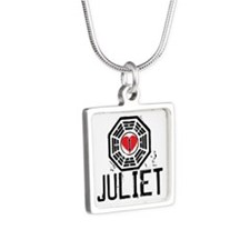I Heart Juliet - LOST Silver Square Necklace