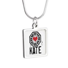 I Heart Kate - LOST Silver Square Necklace