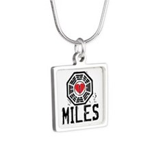 I Heart Miles - LOST Silver Square Necklace